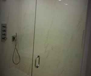 Bathroom renovation - large format tiles for showers - bown sons enterprises renovation